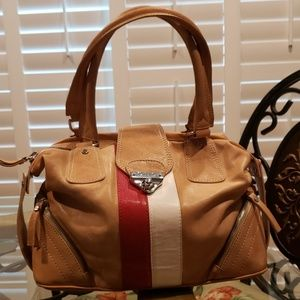 CNC Costume National leather satchel